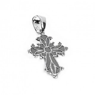 Budded Byzantine Cross Pendant ~ Sterling Silver