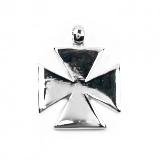 Knights Templar Cross - Pattee Design ~ Sterling Silver Cross Pendant
