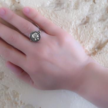 Greek Athenian Tetradrachm ~ Sterling Silver Coin Ring