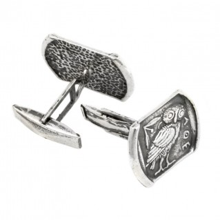 Goddess Athena's Wise Little Owl ~ Sterling Silver Cufflinks