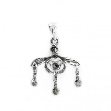 Minoan Malia Bees ~ Sterling Silver Pendant-Charm - XS