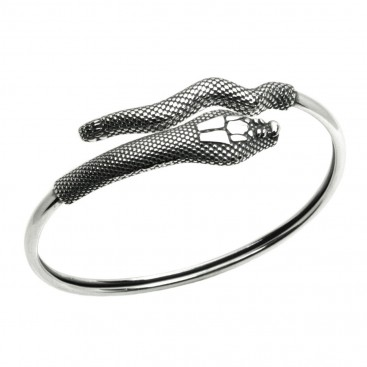 Snake-Serpent ~ Sterling Silver Cuff Bracelet
