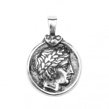 Apollo & Philip II of Macedonia stater - Silver Coin Pendant