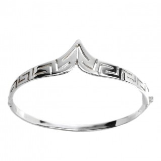 Greek Key - Meander ~ Sterling Silver Bangle Bracelet