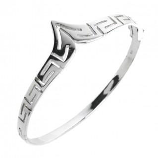 Greek Key - Meander ~ Sterling Silver Bangle Bracelet