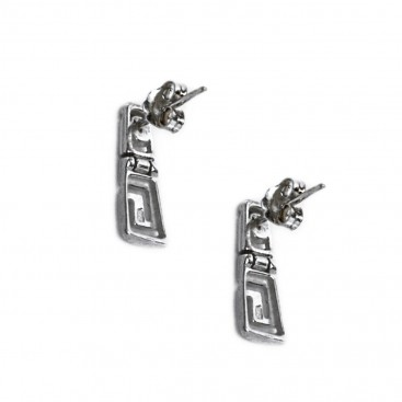 Meander-Greek Key ~ Sterling Silver Earrings