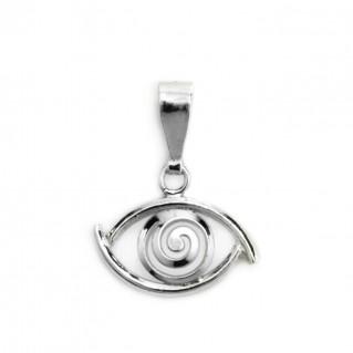 Evil Eye Amulet ~ Sterling Silver Pendant-Charm