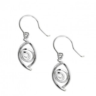Evil Eye Amulet-Charm ~ Sterling Silver Earrings