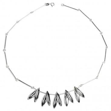 Olive Leaf ~ Sterling Silver Link Necklace