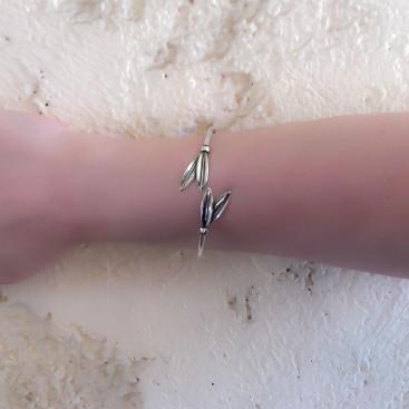 Olive Leaf ~ Sterling Silver Cuff Bracelet