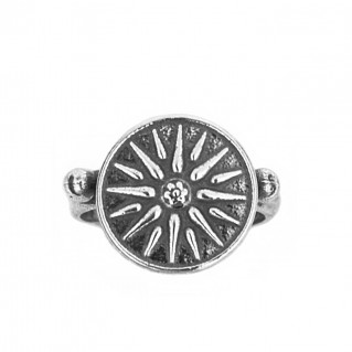 Vergina Sun - Macedonian Star ~ Sterling Silver Ring