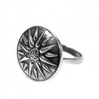 Macedonian Star-Vergina Sun ~ Sterling Silver Ring