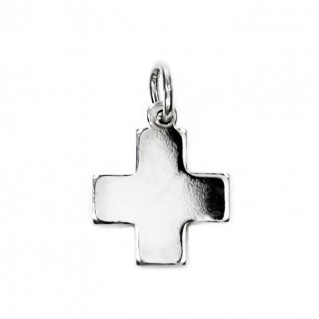 Greek Cross ~ Sterling Silver Small Cross Pendant