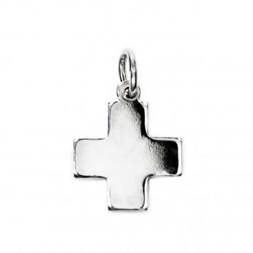Greek Cross ~ Sterling Silver Small Cross Pendant