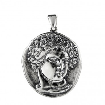 Amphipolis Tetradrachm ~ Sterling Silver Coin Pendant with Apollo