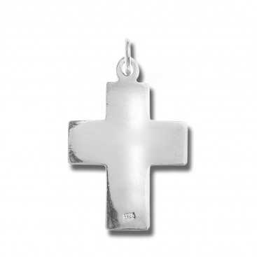 Sterling Silver Flat Shiny Latin Cross Pendant