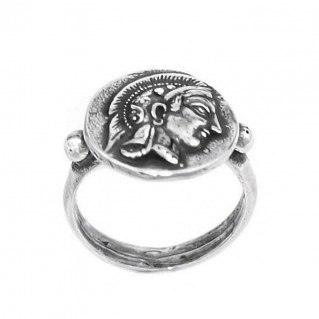 Greek Athenian Tetradrachm ~ Sterling Silver Coin Ring