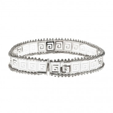 Meander-Greek Key Lace ~ Sterling Silver Link Bracelet