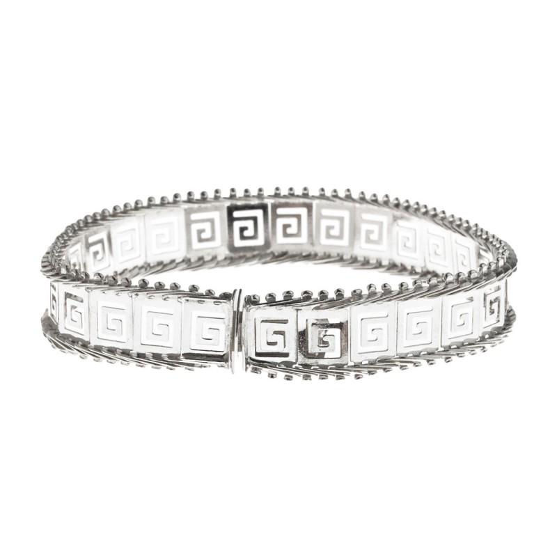 Greek Jewelry Greek key Bracelet Dainty bracelet 925 Sterling Silver Meander link bracelet Gift for Her Mothers day. Greek bracelet