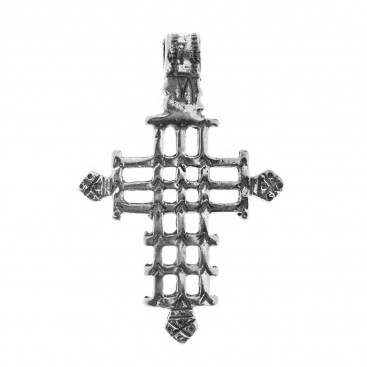 Orthodox Coptic ~ Sterling Silver Cross Pendant - E