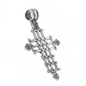 Orthodox Coptic ~ Sterling Silver Cross Pendant - E