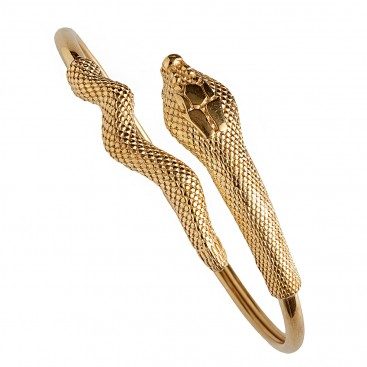 Snake-Serpent ~ Gold Plated Sterling Silver Cuff Bracelet
