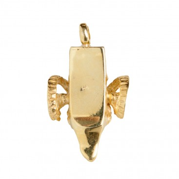 Ram's Head ~ Gold Plated Sterling Silver Large Pendant
