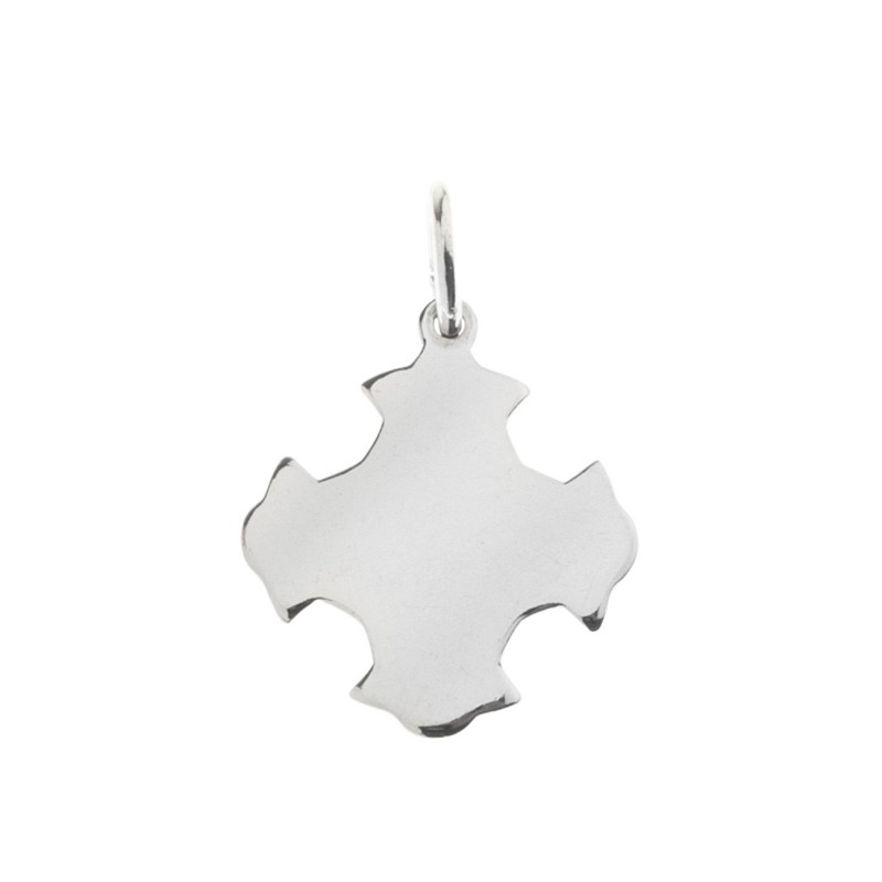 Sterling silver flat shiny budded greek cross pendant culturetaste sterling silver flat shiny greek budded cross pendant mozeypictures Choice Image