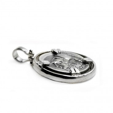 Athena & Pegasus ~ Corinth silver stater - Silver Coin Pendant