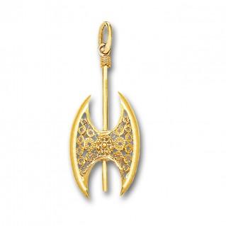 Minoan Double Axe - 14K Solid Gold Pendant D/Medium