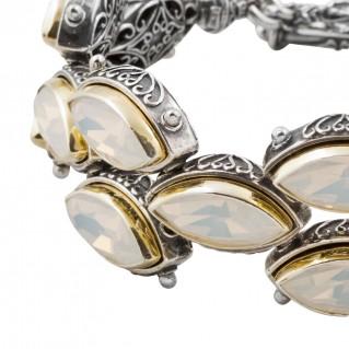 B303 ~ Sterling Silver & Swarovski - Medieval Byzantine Bracelet