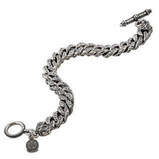 B331 ~ Sterling Silver Medieval Byzantine Chain Bracelet