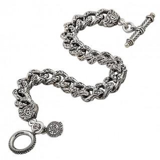 B332 ~ Sterling Silver Medieval Byzantine Chain Bracelet