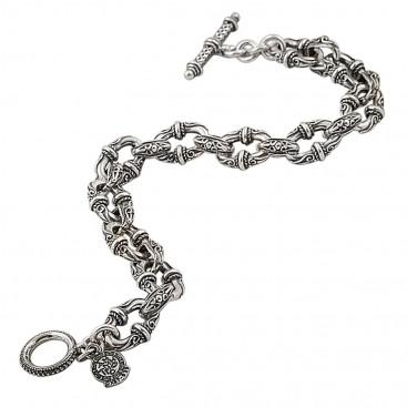 B333 ~ Sterling Silver Medieval Byzantine Bracelet