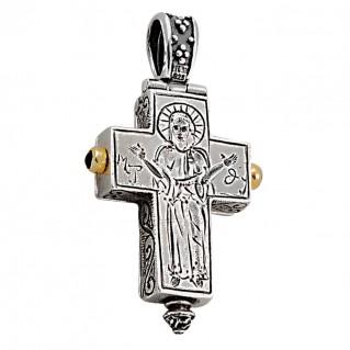 ST108 ~ Sterling Silver Byzantine Cross Pendant