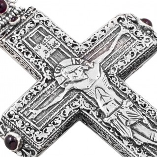 ST178 ~ Sterling Silver Medieval-Byzantine Crucifix Cross Pendant