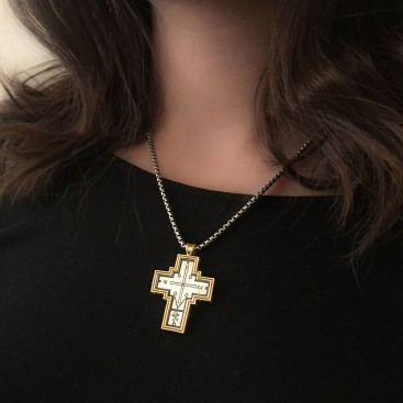 ST243 ~ Sterling Silver Byzantine Cross Pendant