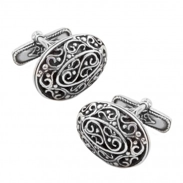 MA11 ~ Sterling Silver Medieval Byzantine Cufflinks