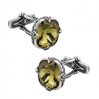 MA22 ~ Sterling Silver & Swarovski Medieval Byzantine Cufflinks