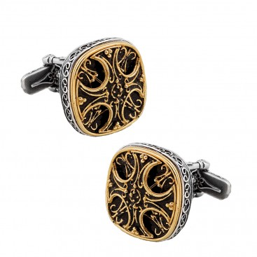 MA30 ~ Silver & Enamel Medieval Byzantine Cufflinks