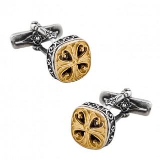 MA35 ~ Sterling Silver Medieval Byzantine Cufflinks
