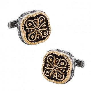 MA47 ~ Silver & Enamel Medieval Byzantine Cufflinks