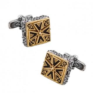 MA48 ~ Silver & Enamel Medieval Byzantine Cufflinks
