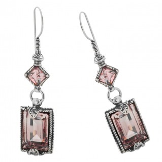 S118 ~ Sterling Silver and Swarovski - Medieval Byzantine Earrings