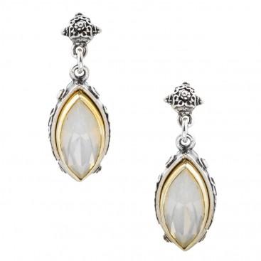 S174 ~ Sterling Silver and Swarovski - Medieval Byzantine Earrings