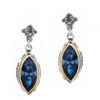 S174 ~ Sterling Silver and Swarovski - Medieval Byzantine Earrings