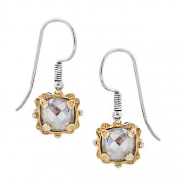 S186 ~ Sterling Silver and Swarovski - Medieval Byzantine Earrings