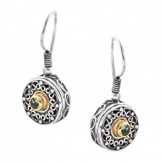 S188 ~ Sterling Silver and Swarovski - Medieval Byzantine Earrings