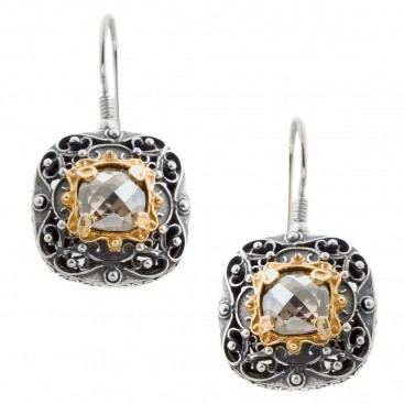 S190 ~ Sterling Silver and Swarovski - Medieval Byzantine Earrings
