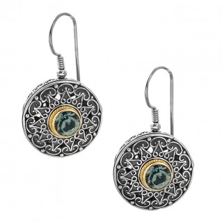 S191 ~ Sterling Silver and Swarovski - Medieval Byzantine Earrings